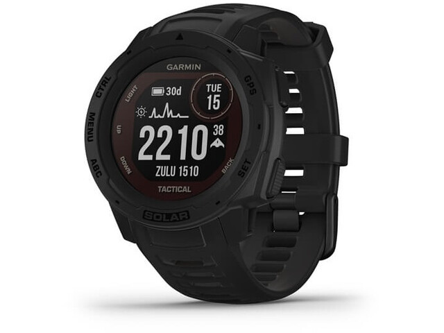 Garmin Instinct Solar Tactical GPS Smartwatch, black